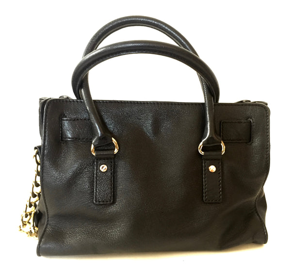 Michael Kors Black Leather 'Hamilton' Tote Bag | Gently Used | - Secret Stash