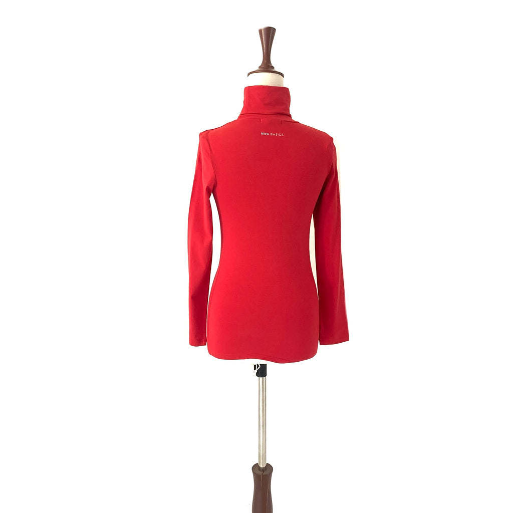 Mango Red Turtle Neck Top | Brand New |