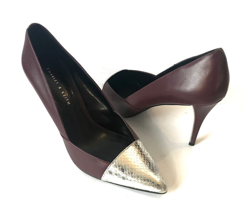Charles & Keith Pointed Leather Pumps | Gently Used |