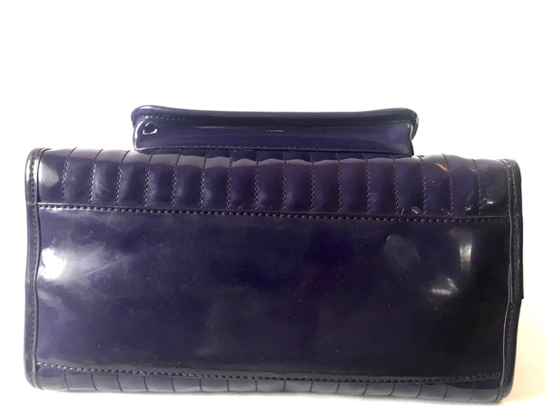 Ted Baker Indigo Patent Leather Tote | Pre Loved |
