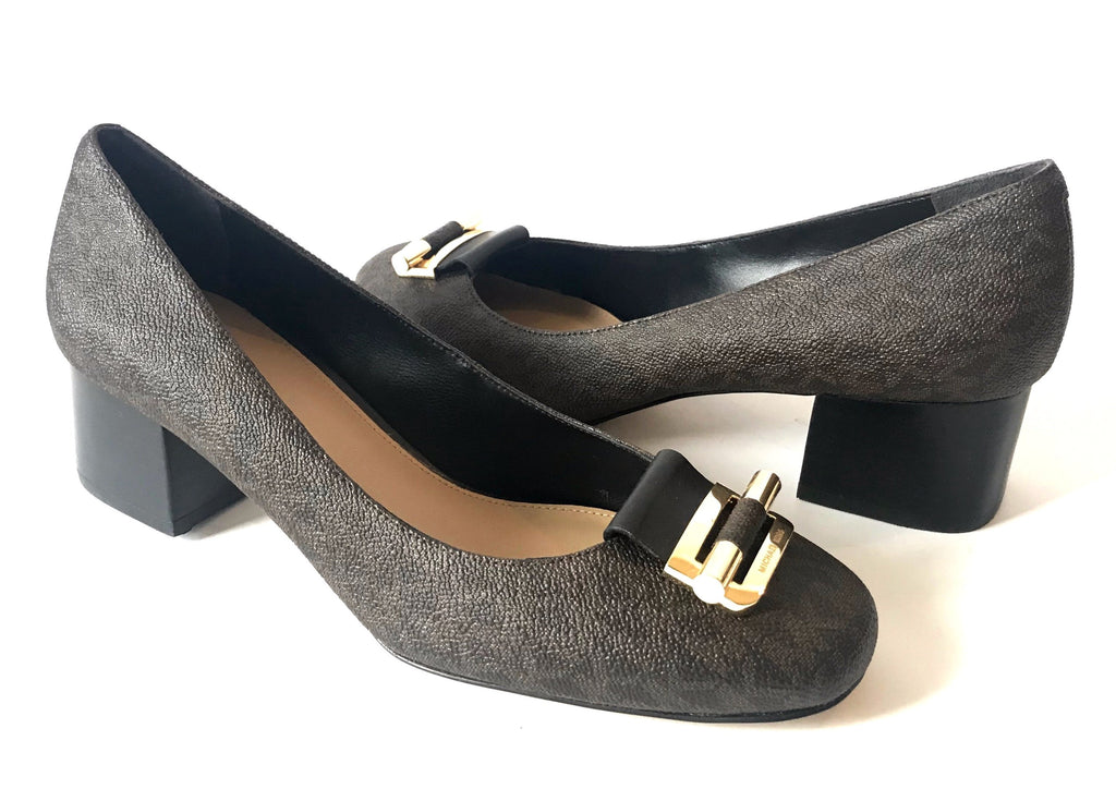 MICHAEL Michael Kors GLORIA Logo Pumps | Brand New |
