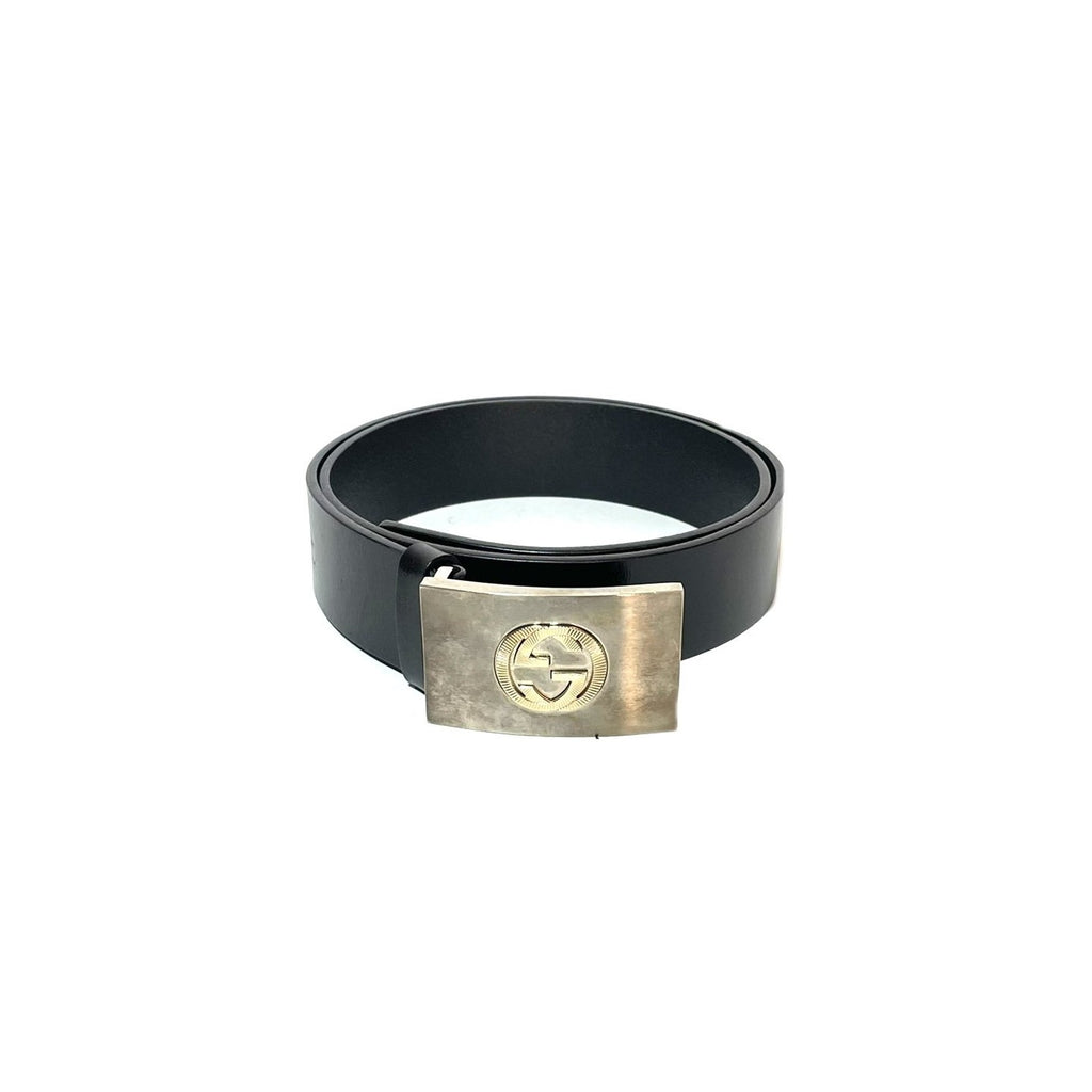 Gucci Black Leather Men's Belt  | Pre Loved |