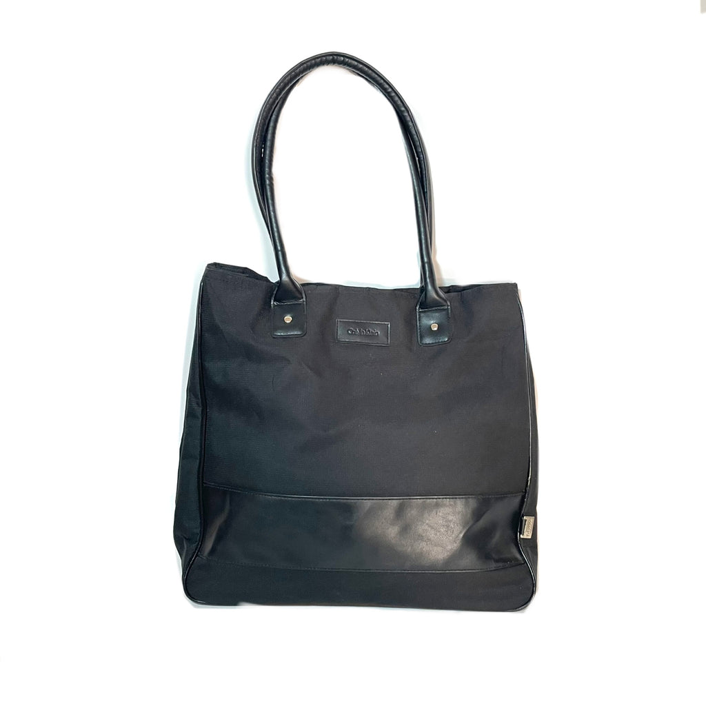 Calvin Klein Black Canvas Tote | Pre Loved |