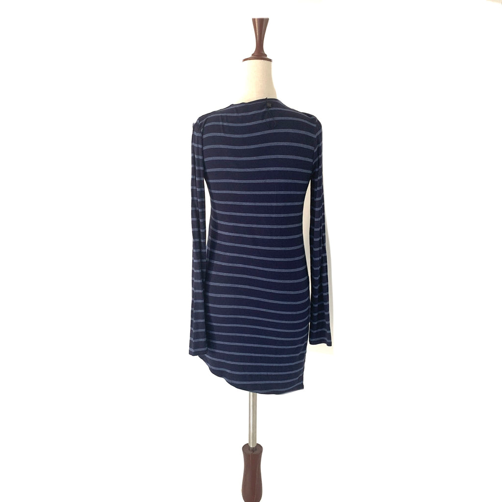 BCBGMAXAZARIA Navy Striped Top | Like New |