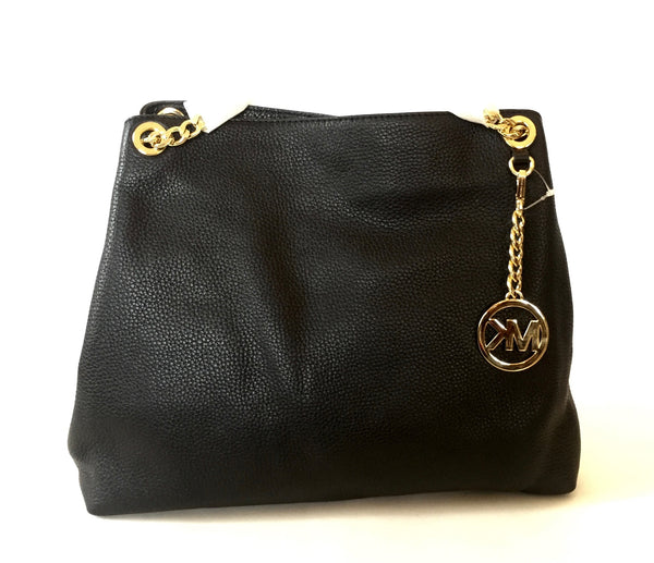 Michael Kors Black Jet Set Chain Leather Shoulder Bag | Brand New | - Secret Stash