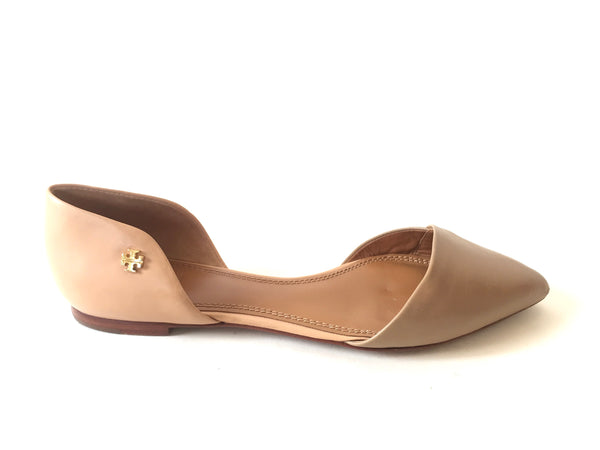 Tory Burch Two Toned Leather 'Viv Flat' D'Orsay Shoes | Pre Loved | - Secret Stash