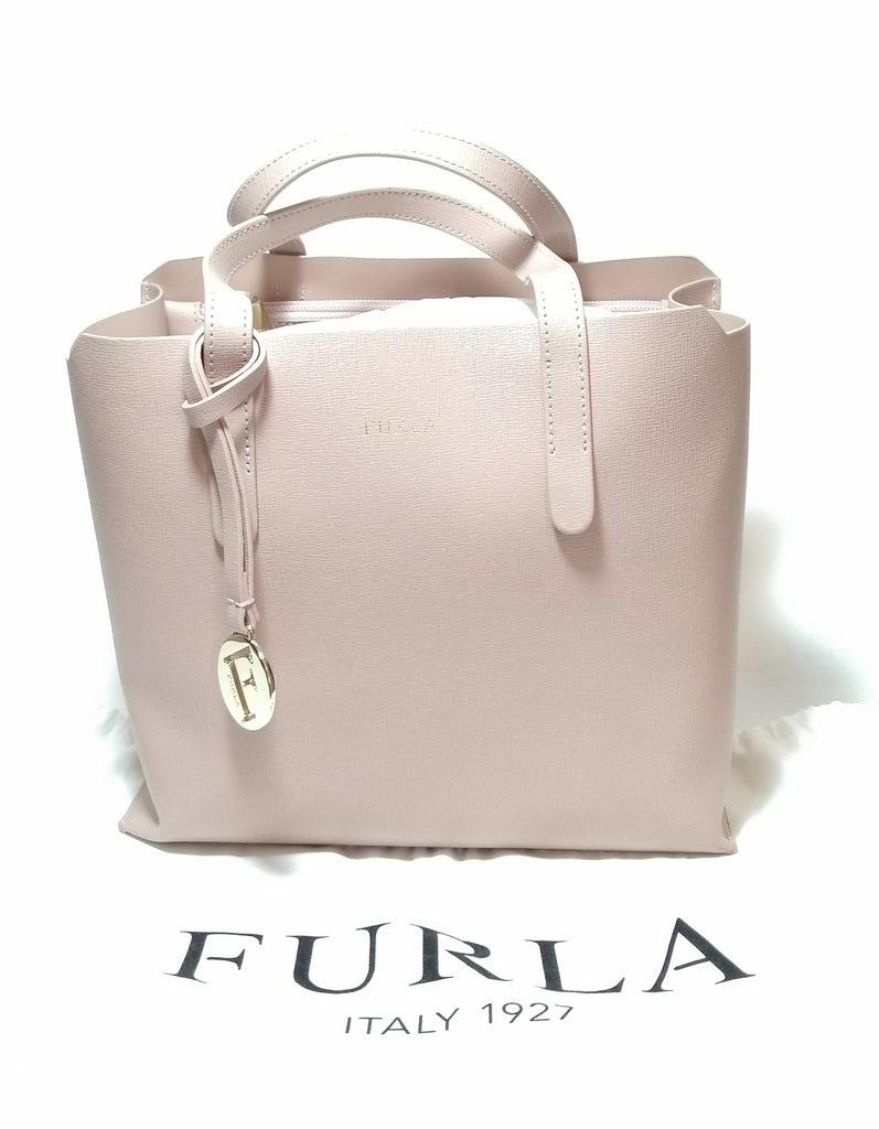Furla Blush Pink Leather Tote