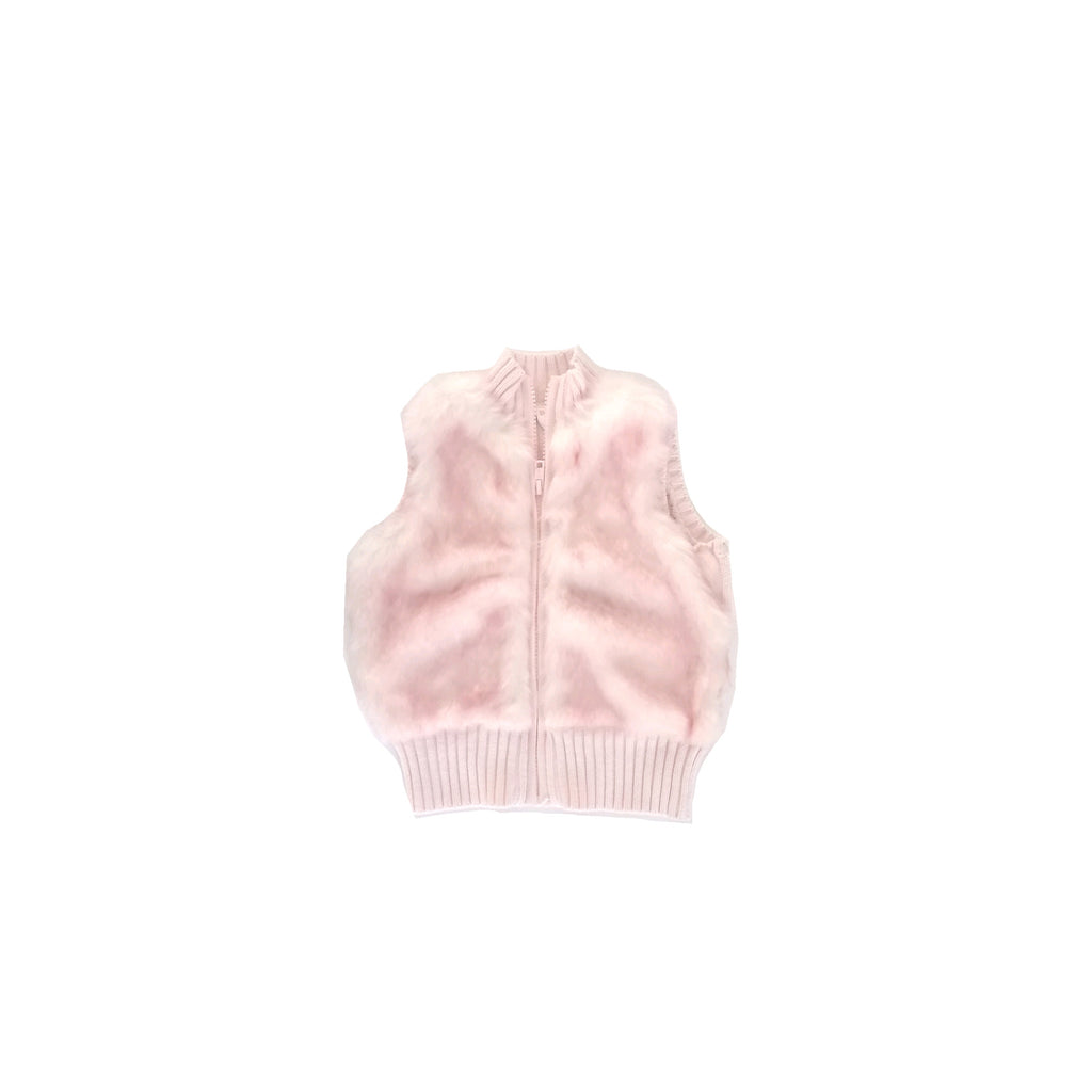 Gymboree Pink Fur Sleeveless Jacket (4 years)