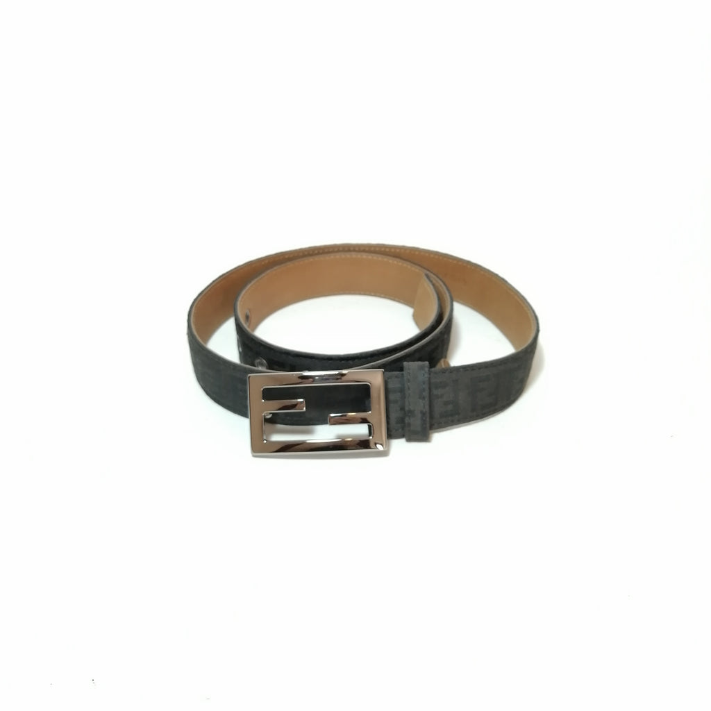 Fendi Black Monogram Belt