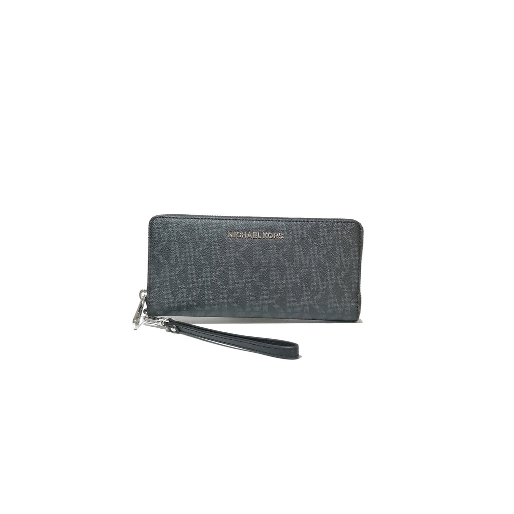 Michael Kors Black Jet Set Travel Continental Wristlet