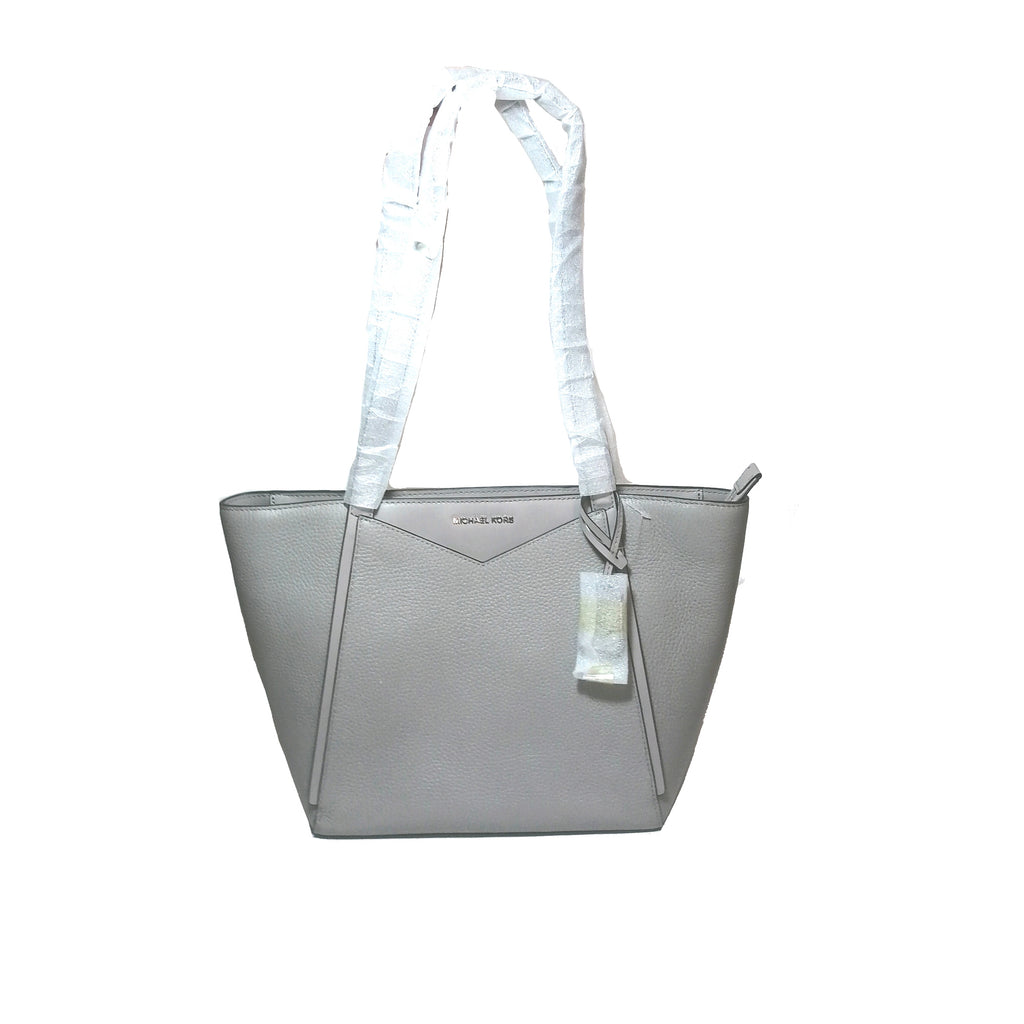 Michael Kors Pearl Grey Leather ' Whitney Tote'