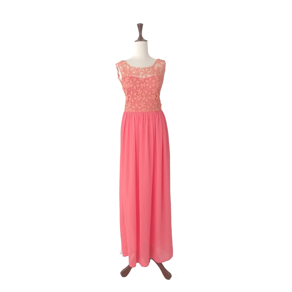 Club L London Coral Orange Maxi Dress