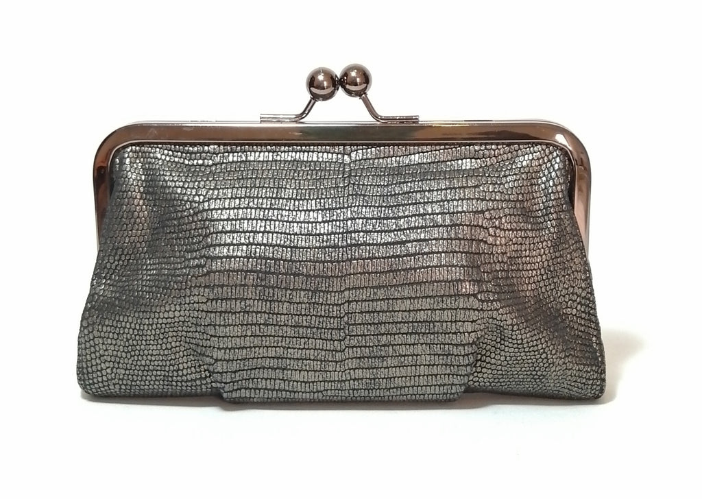 Coach Bronze Textured Leather Clutch | Gently Used |