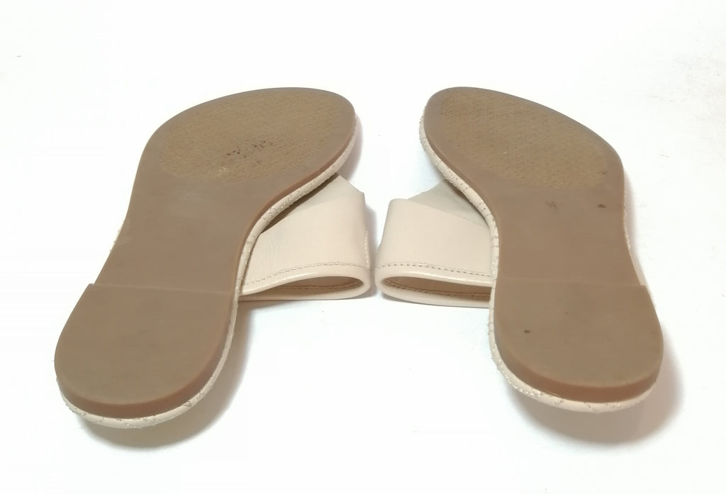 Tory Burch Cream Leather 'Fleming' Sandals | Gently Used |