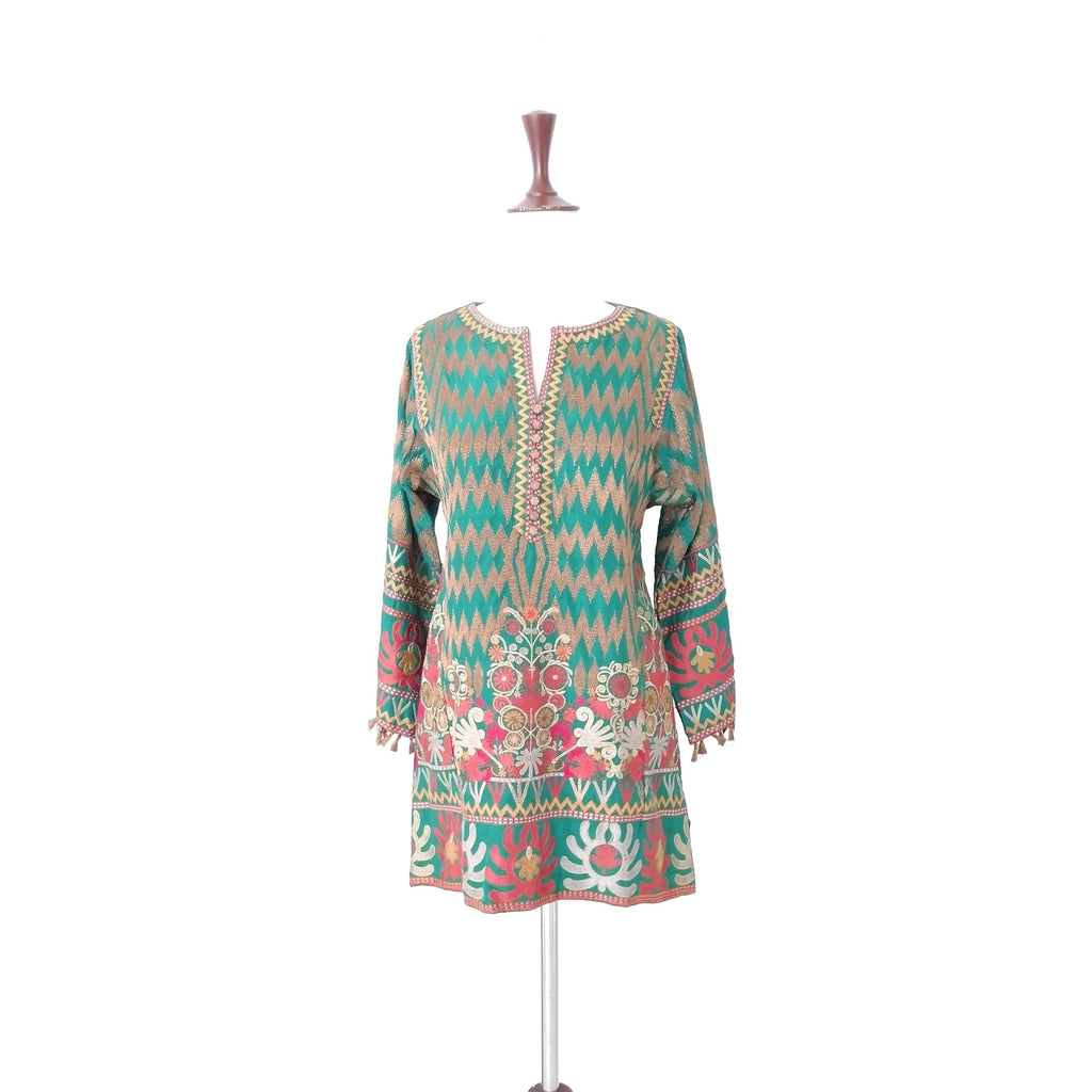 Khaadi Green Embroidered Kameez