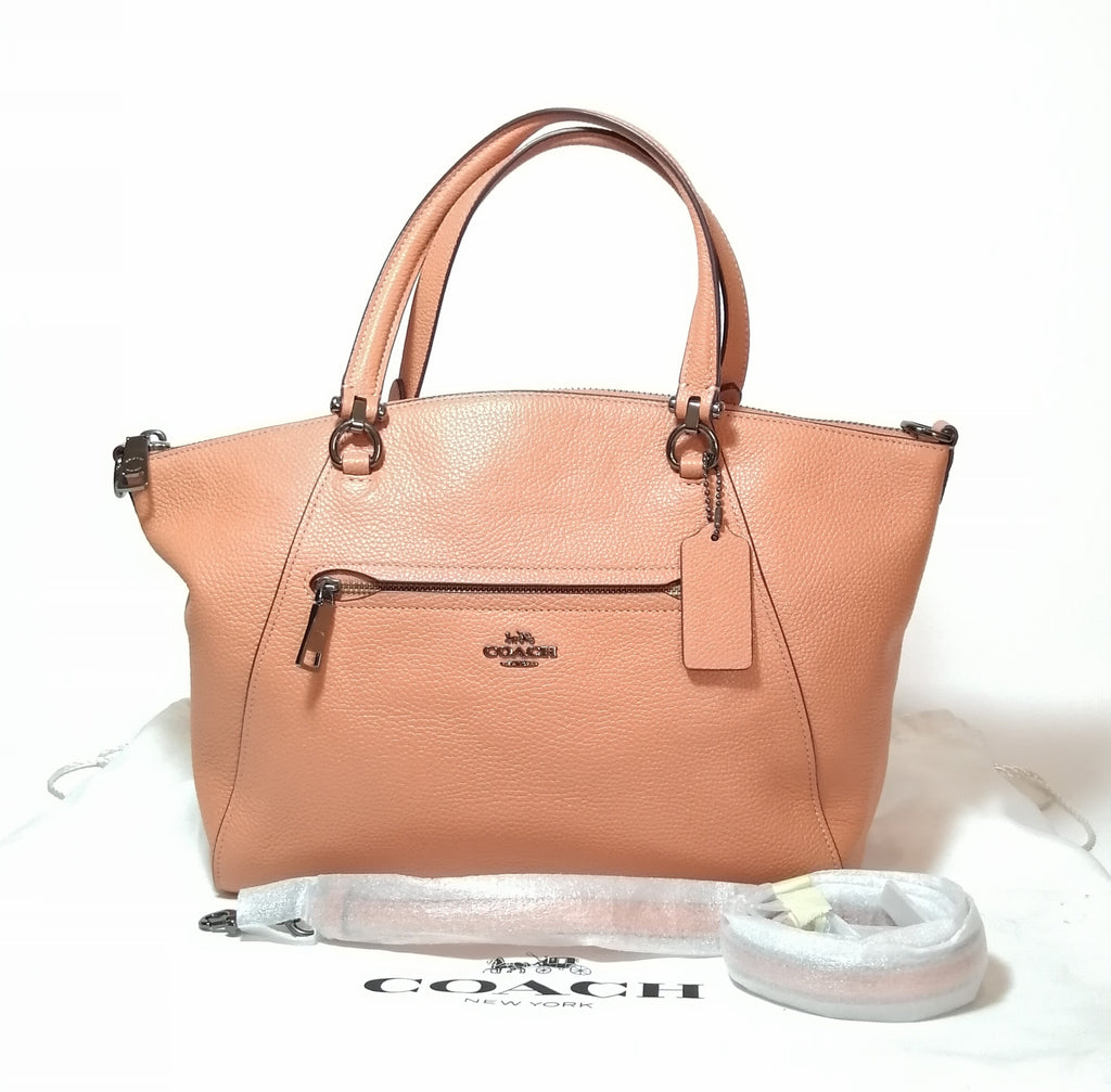 Coach Peach Leather Satchel