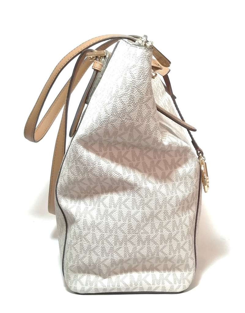Michael Kors Vanilla Monogram Shoulder Bag