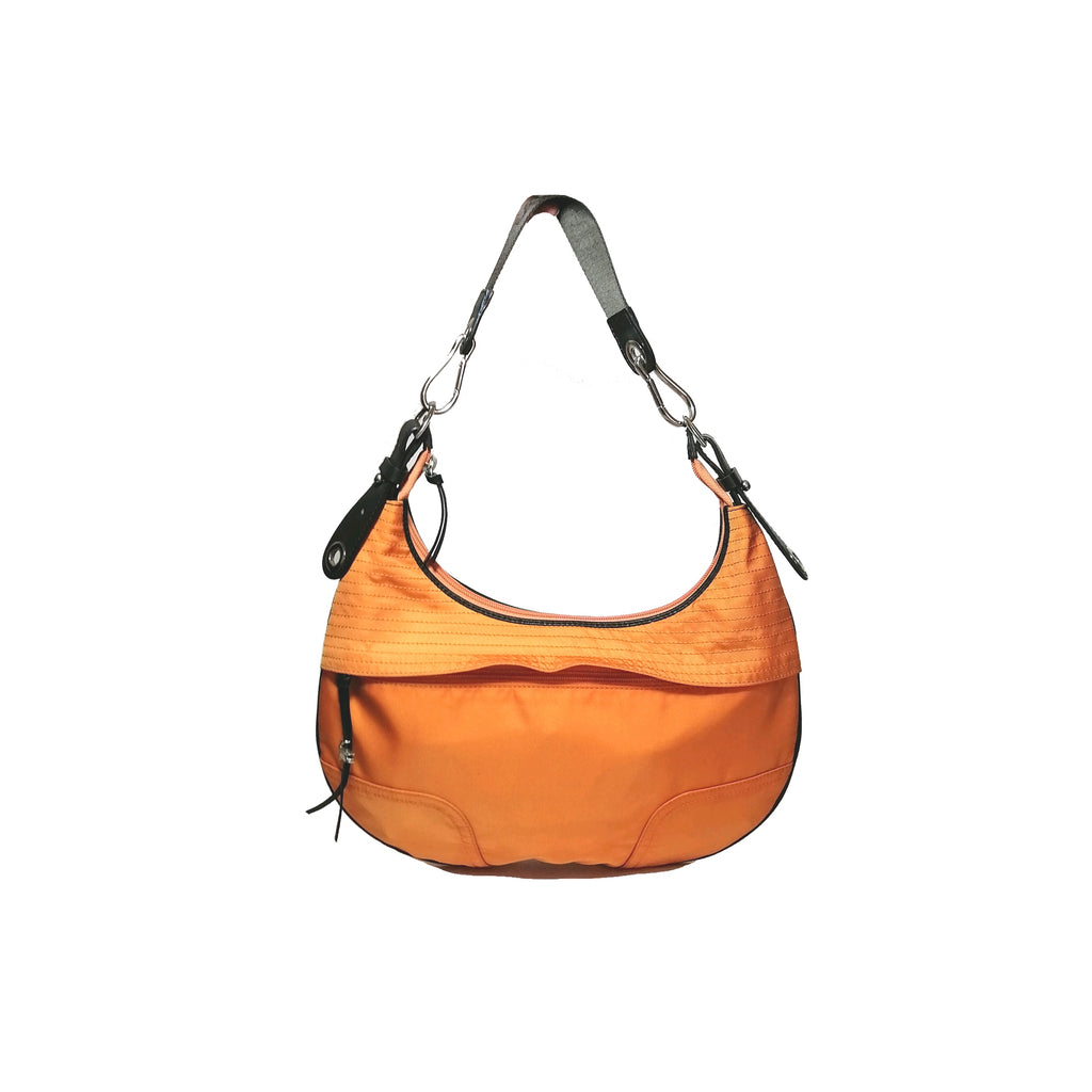 Lacoste Orange Nylon Hobo Shoulder Bag | Gently Used |