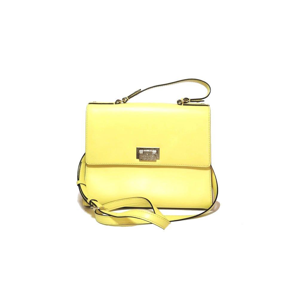 Kate Spade Yellow Doris Harwood Place Satchel | Pre Loved |