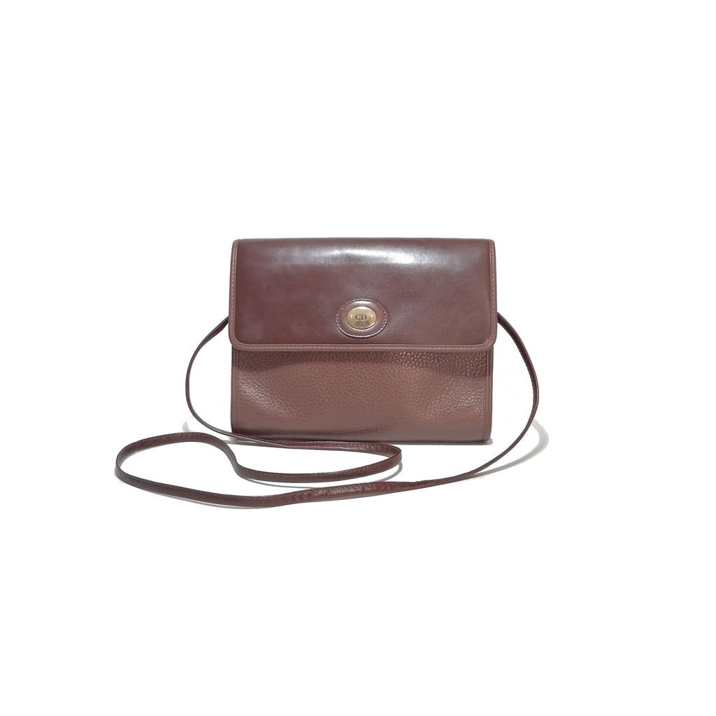 Christian Dior Vintage Tan Leather Shoulder Bag