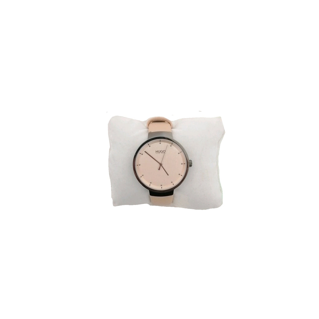 Hugo Boss Unisex Beige Leather Strap Watch | Like New |