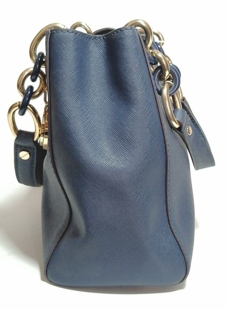 Michael Kors Small Navy Leather Cynthia Tote