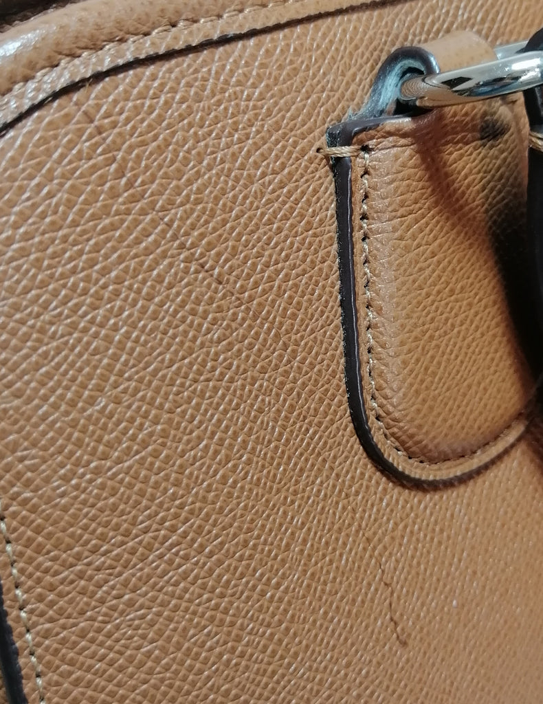 Coach Tan Pebbled Leather Satchel