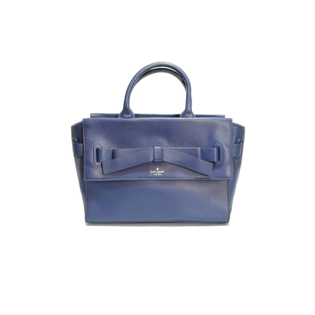 Kate Spade Navy Pebbled Leather Satchel