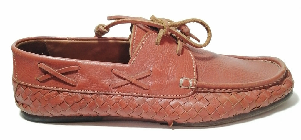 Viera By Bagaze Tan Leather Men's Boat Shoes