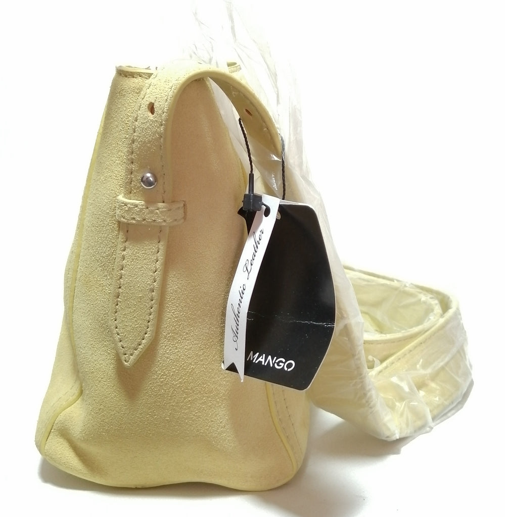 Mango Yellow Suede Crossbody Bag