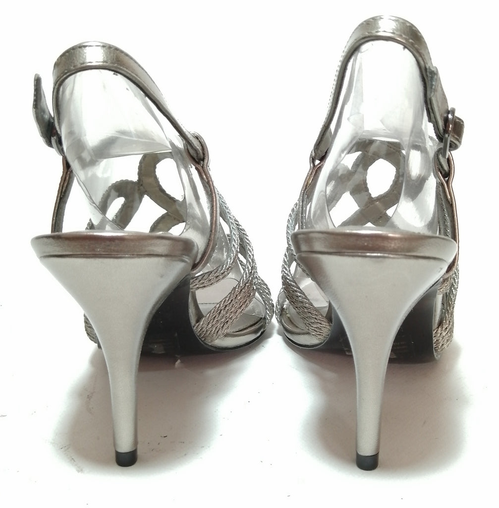 Nine West Grey Strappy Heels