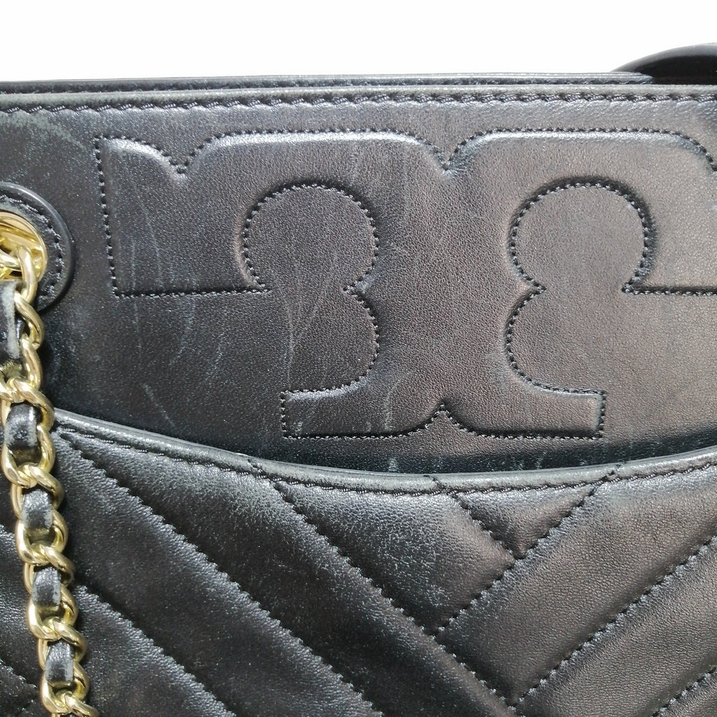 Tory Burch Black Alexa Quilted Shoulder Bag