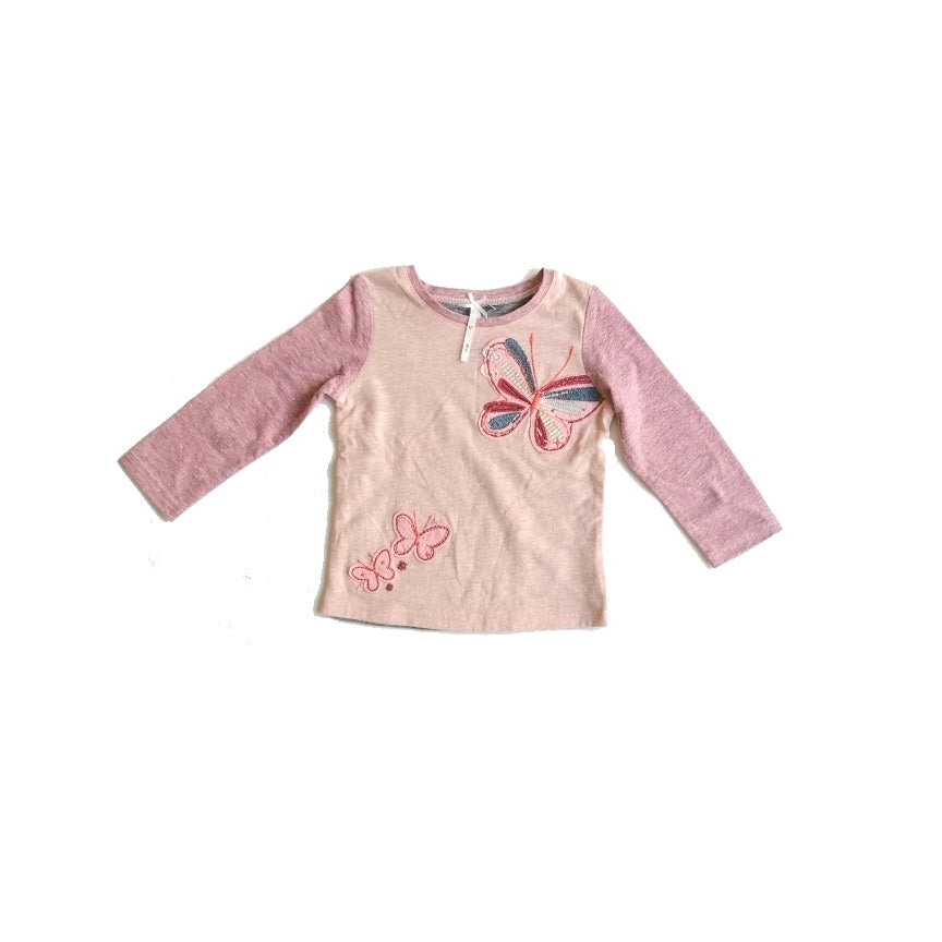 NEXT Pink Butterfly Long Sleeved Shirt