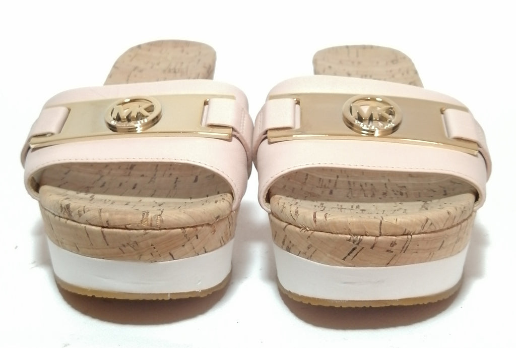 Michael Kors Warren Light Pink Cork Wedges