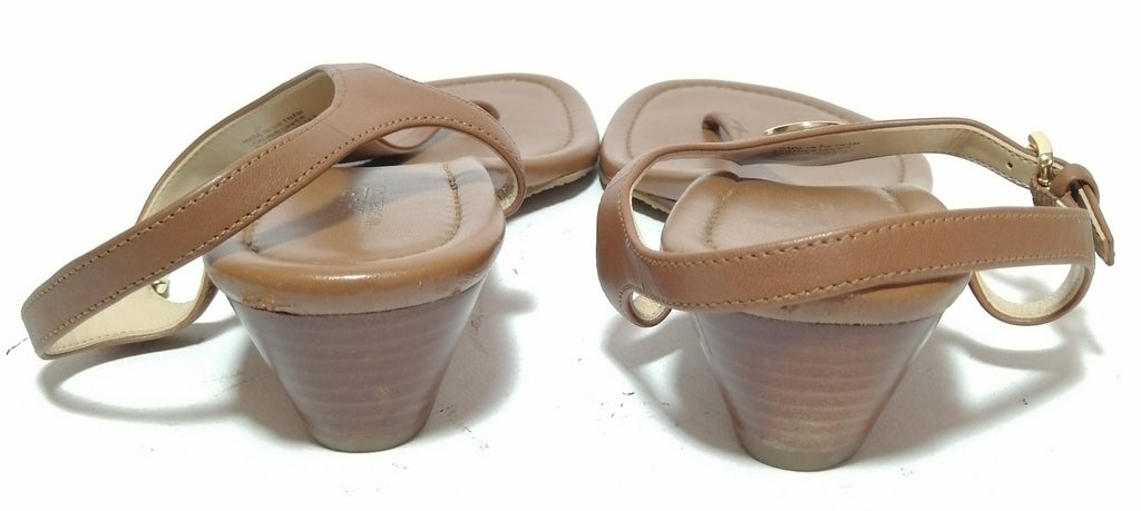 Michael Kors Tan Thong Wedges