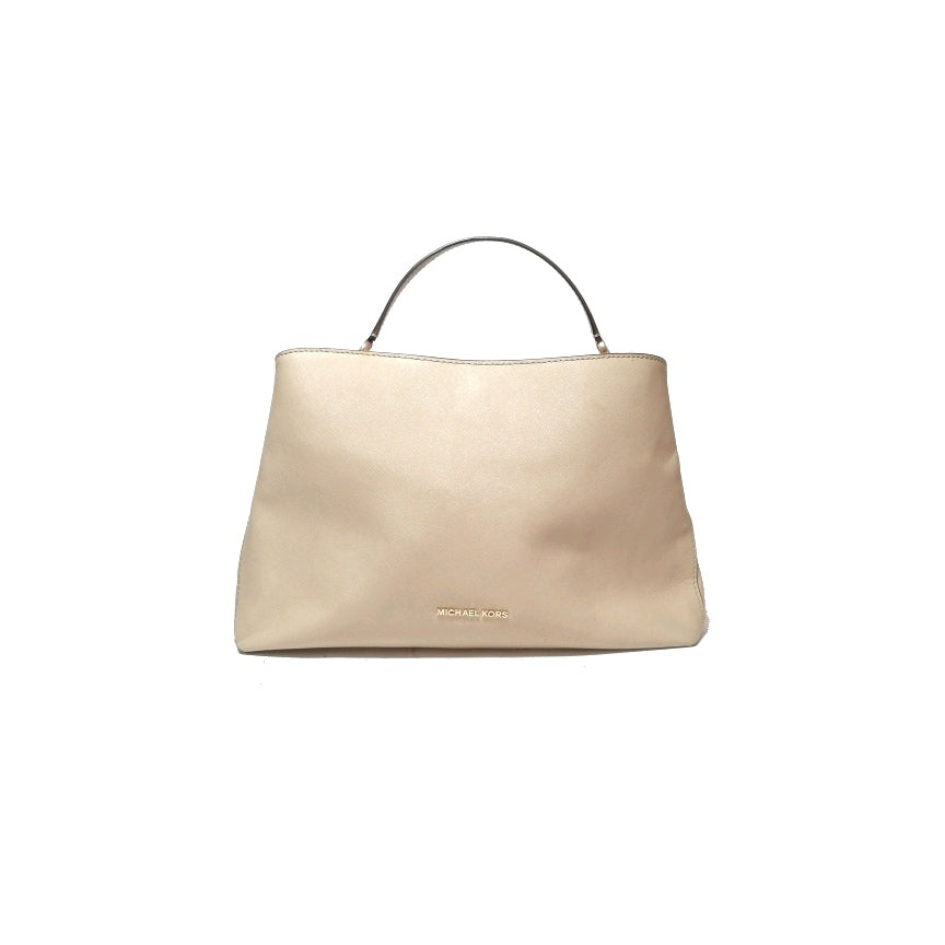 Michael Kors Beige Textured Leather Tote