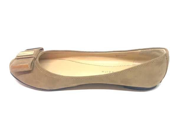 Charles & Keith Camel Suede Ballet Flats | Gently Used |
