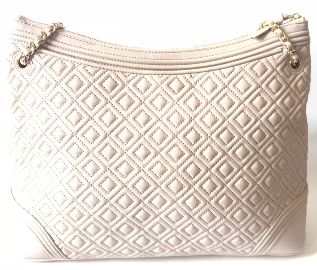 Tory Burch Taupe Fleming Leather Tote | Brand New |
