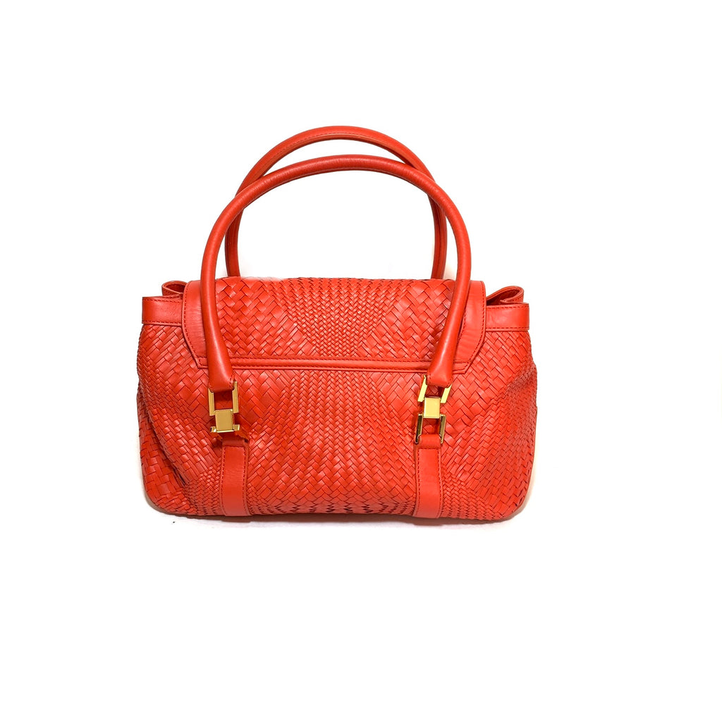 L.K. Bennett Red Quilted Leather Tote | Gently Used |