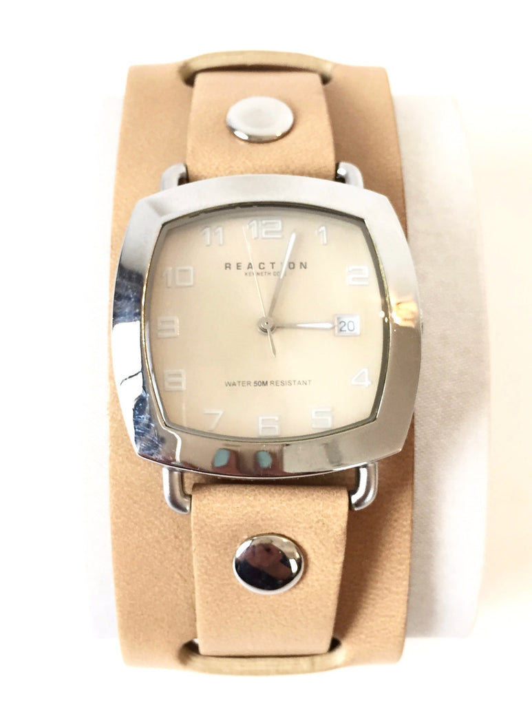 Kenneth Cole Reaction Leather Wrist Watch | Like New | - Secret Stash