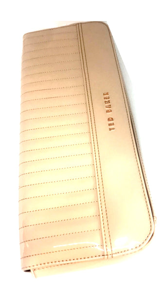 Ted Baker Taupe Patent Leather Clutch | Like New |