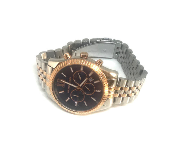 Michael Kors MK8412 Men's Lexington Two Toned Watch | Brand New |