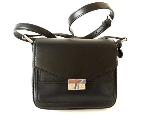 Tory Burch Black Saffiano Leather Cross Body Bag | Gently Used |