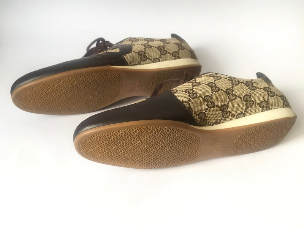 Gucci 'Gucissima' Leather & Canvas Sneakers | Like New | - Secret Stash