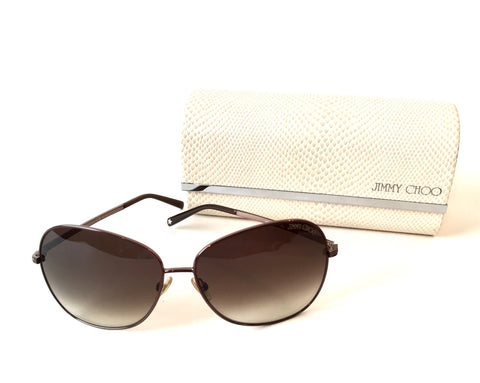 Jimmy Choo CROCUS/S AGF02 Bronze Sunglasses | Gently Used |