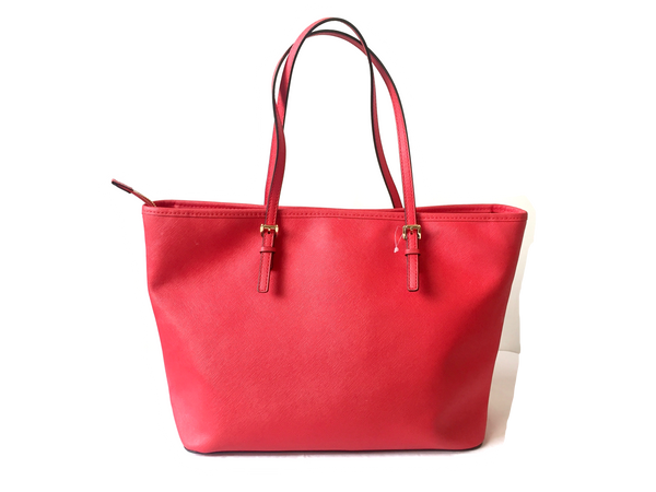 Michael Kors 'Jet Set' Red Saffiano Leather Tote | Pre Loved | - Secret Stash