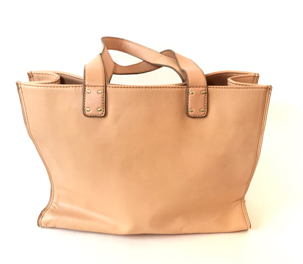 Kenneth Cole Reaction Beige Faux Leather Tote Bag | Gently Used | - Secret Stash