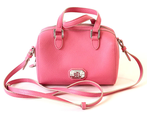 Lauren Ralph Lauren Faux Leather Pink Small Bag | Gently Used |