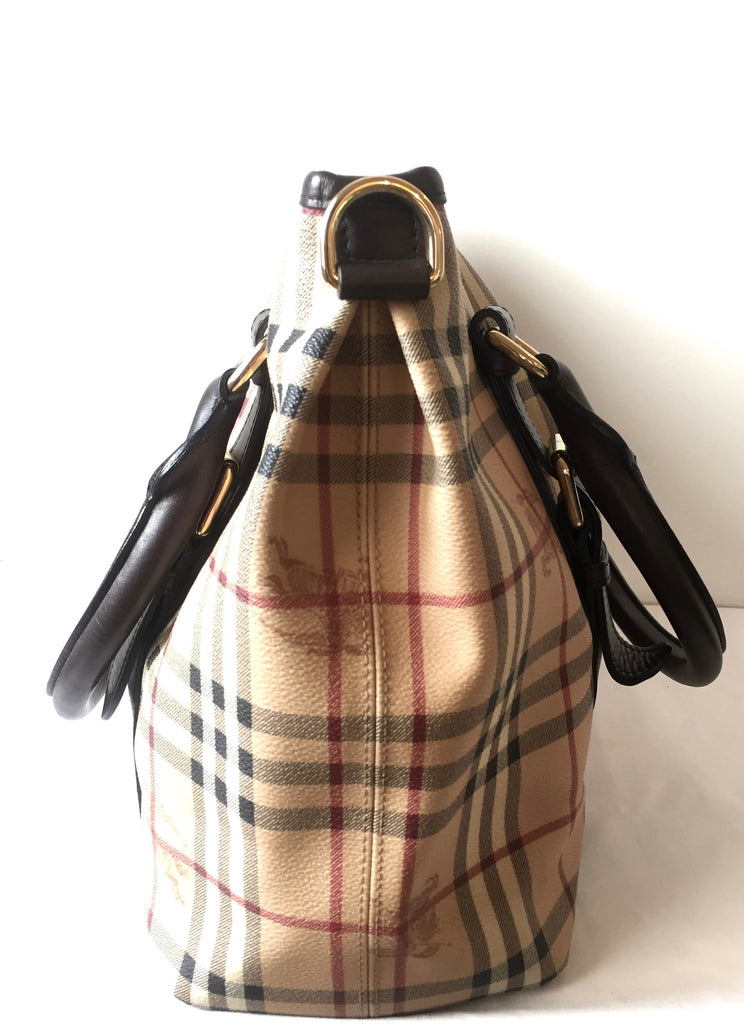 Burberry Haymarket Check & Leather Tote | Gently Used | - Secret Stash