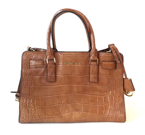 MICHAEL Michael Kors Tan Textured Leather Hamilton Tote | Gently Used | - Secret Stash